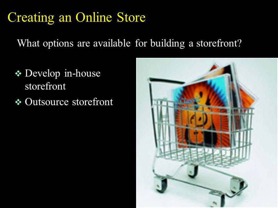 Creating an Online Store