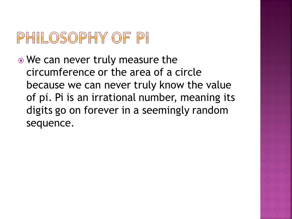 Philosophy of Pi