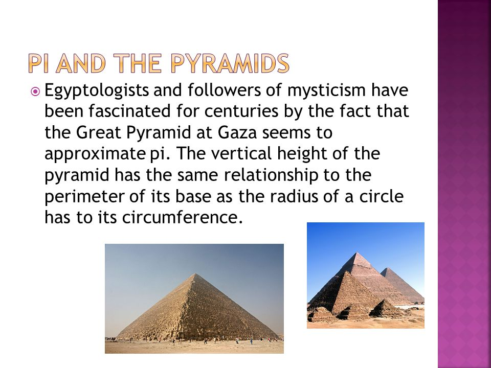 Pi and the Pyramids