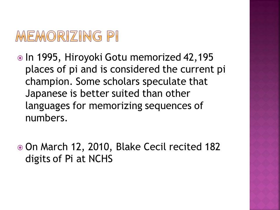 Memorizing Pi