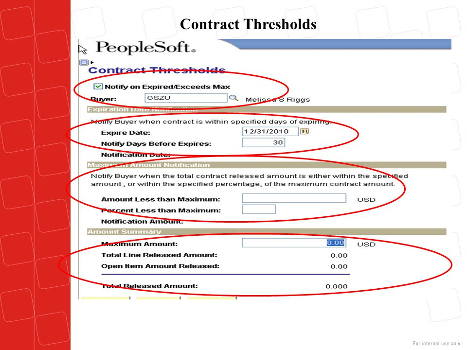 Contract Thresholds Step 4 – Contract Thresholds