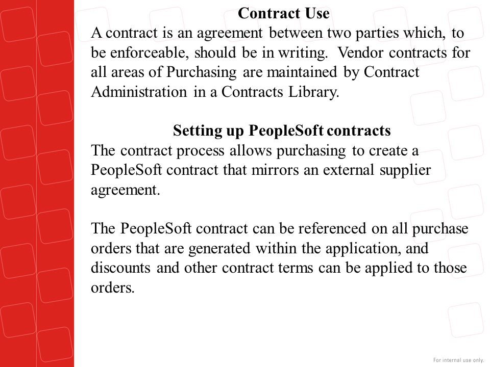 Setting up PeopleSoft contracts
