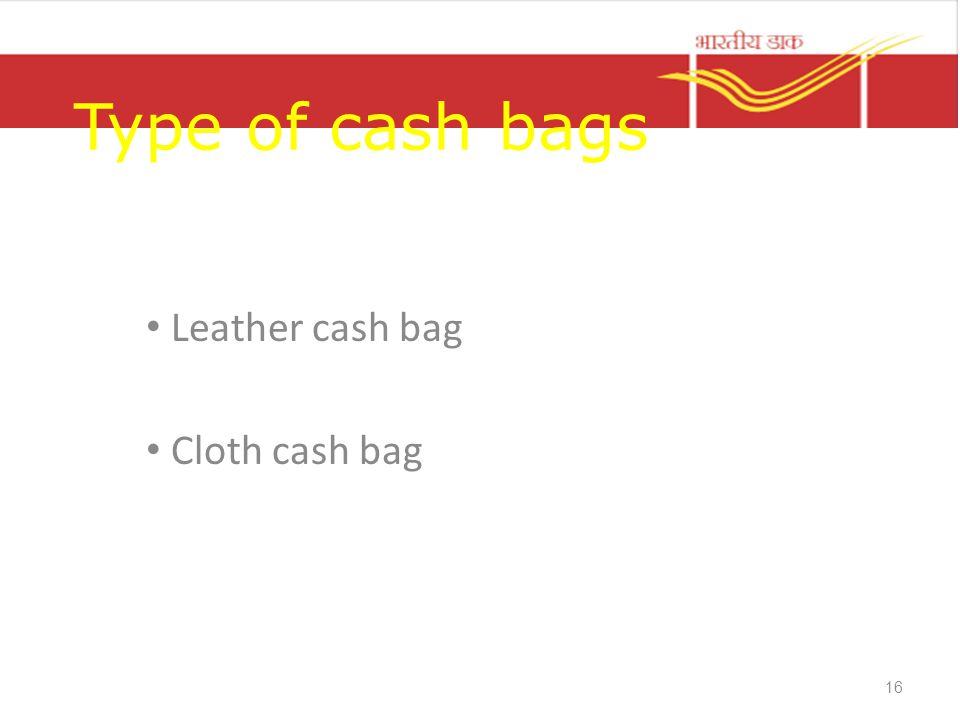 Leather cash bag Cloth cash bag