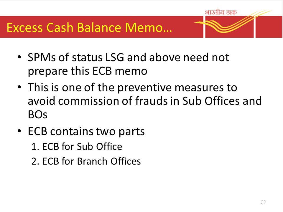 Excess Cash Balance Memo…