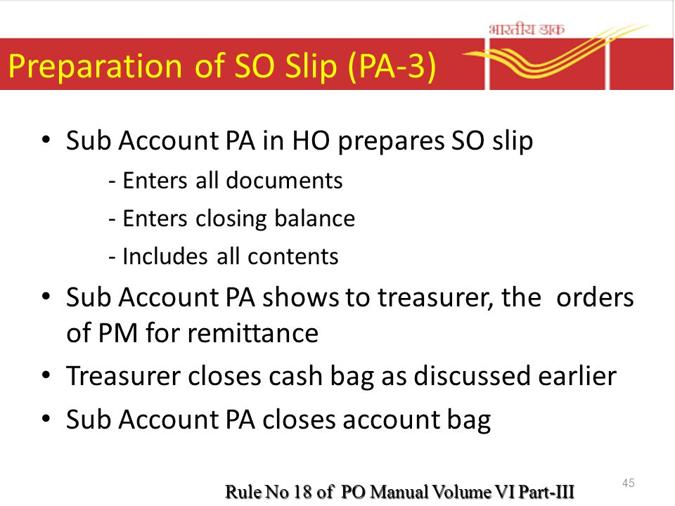 Preparation of SO Slip (PA-3)