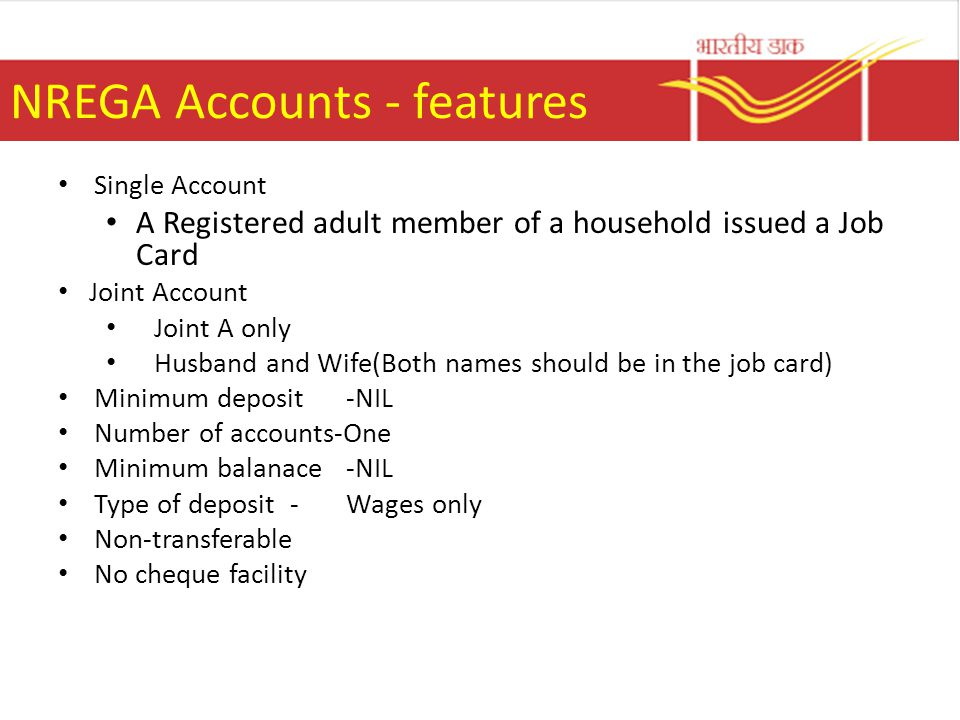 Nrega and po ppt video online download - Post office joint account ...