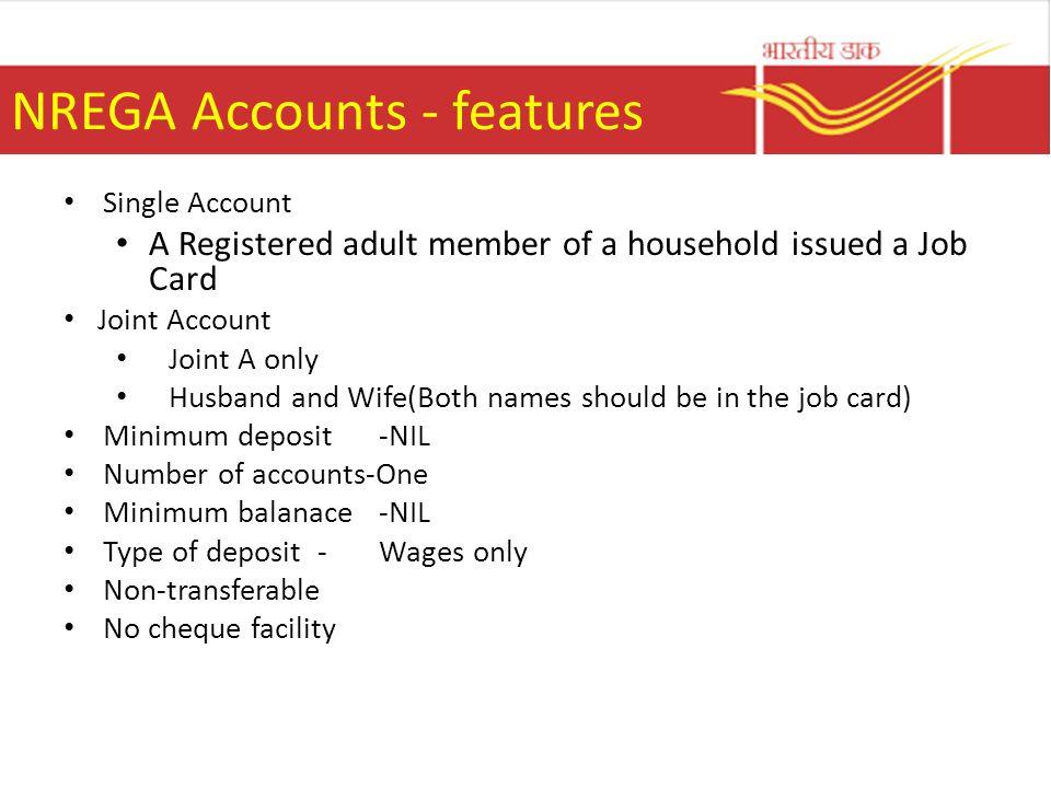 NREGA Accounts - features