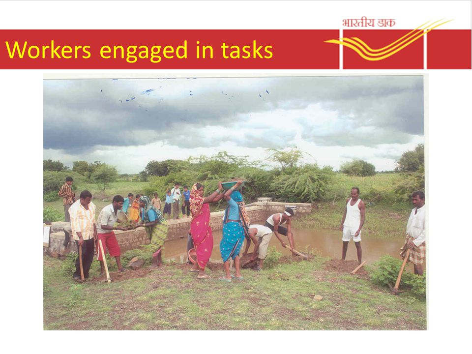 Workers engaged in tasks