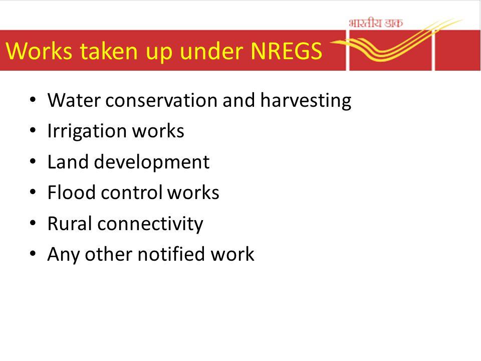 Works taken up under NREGS