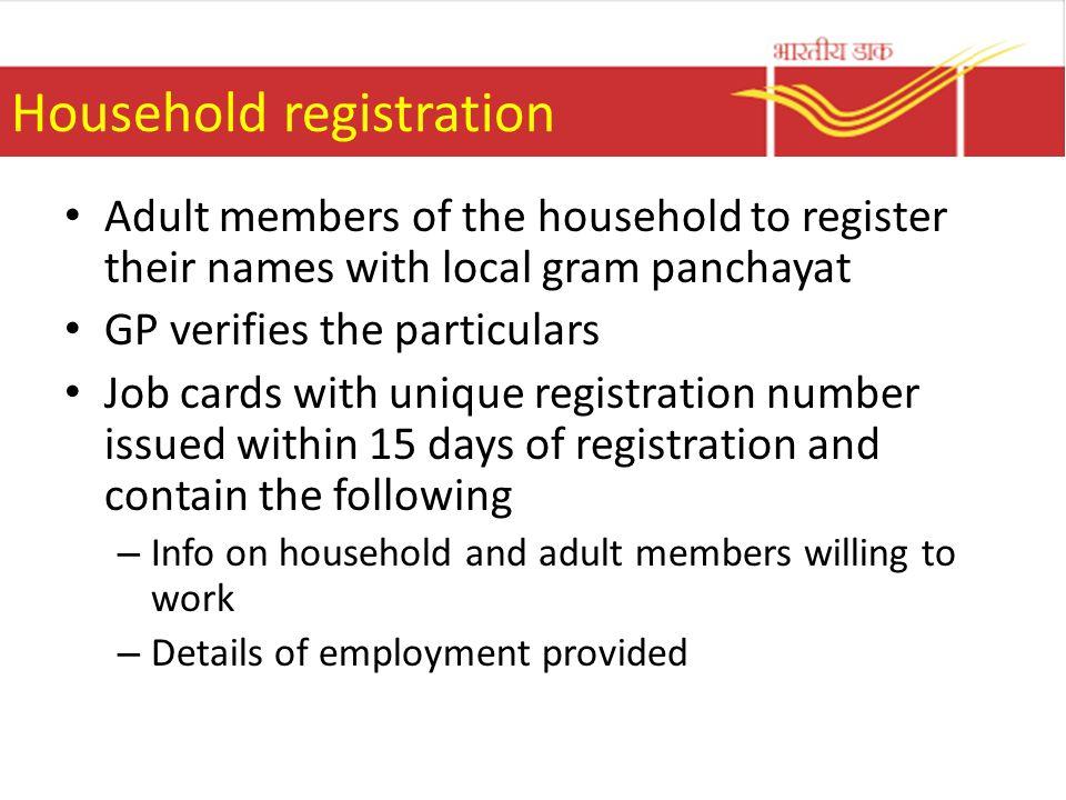 Household registration