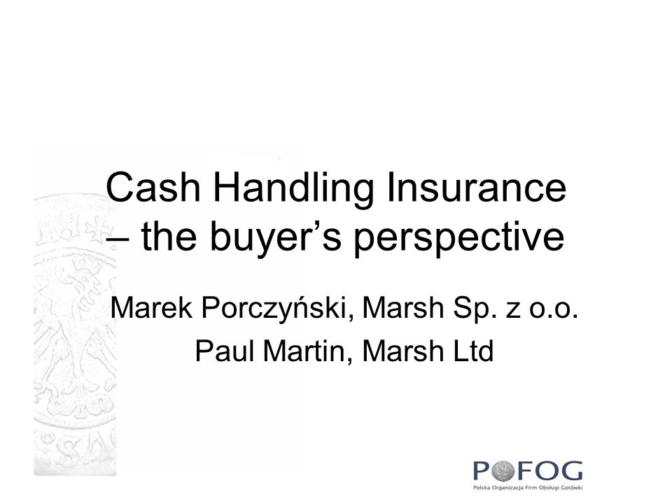 Cash Handling Insurance – the buyer's perspective