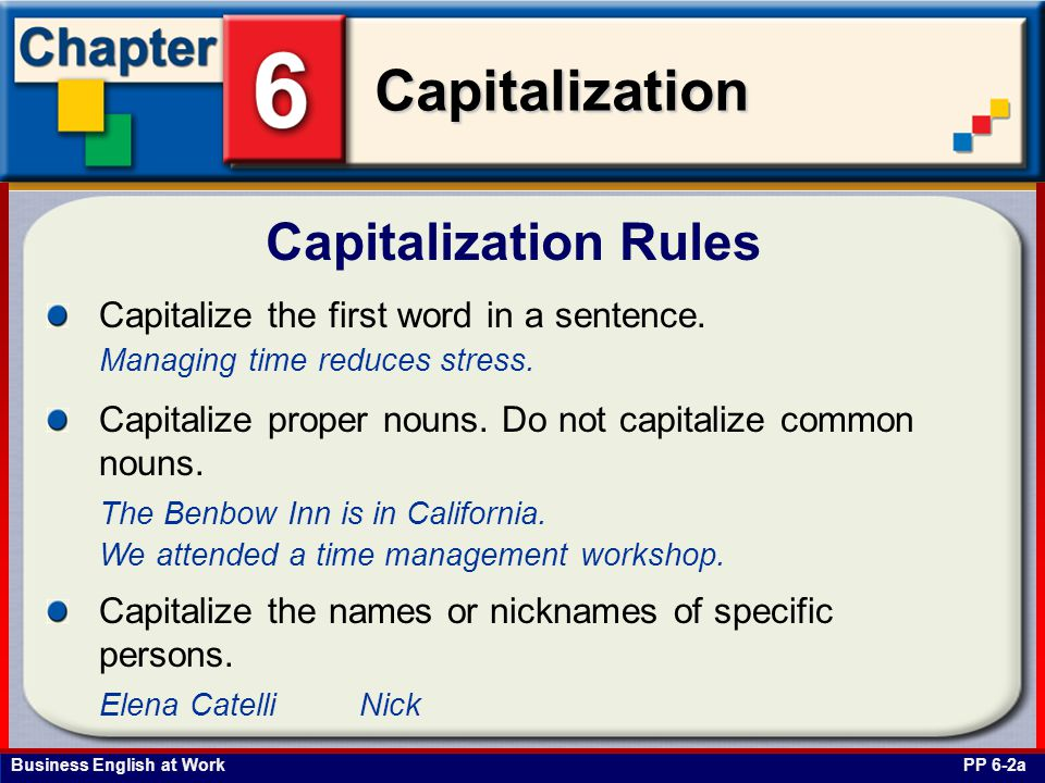 capitalization rules capitalize the first word in a
