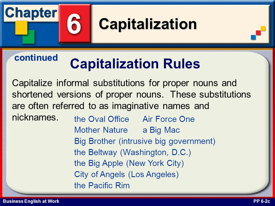 continued Capitalization Rules.