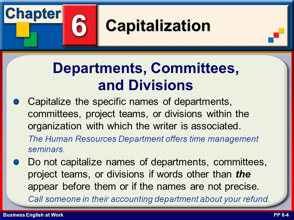 Departments, Committees, and Divisions