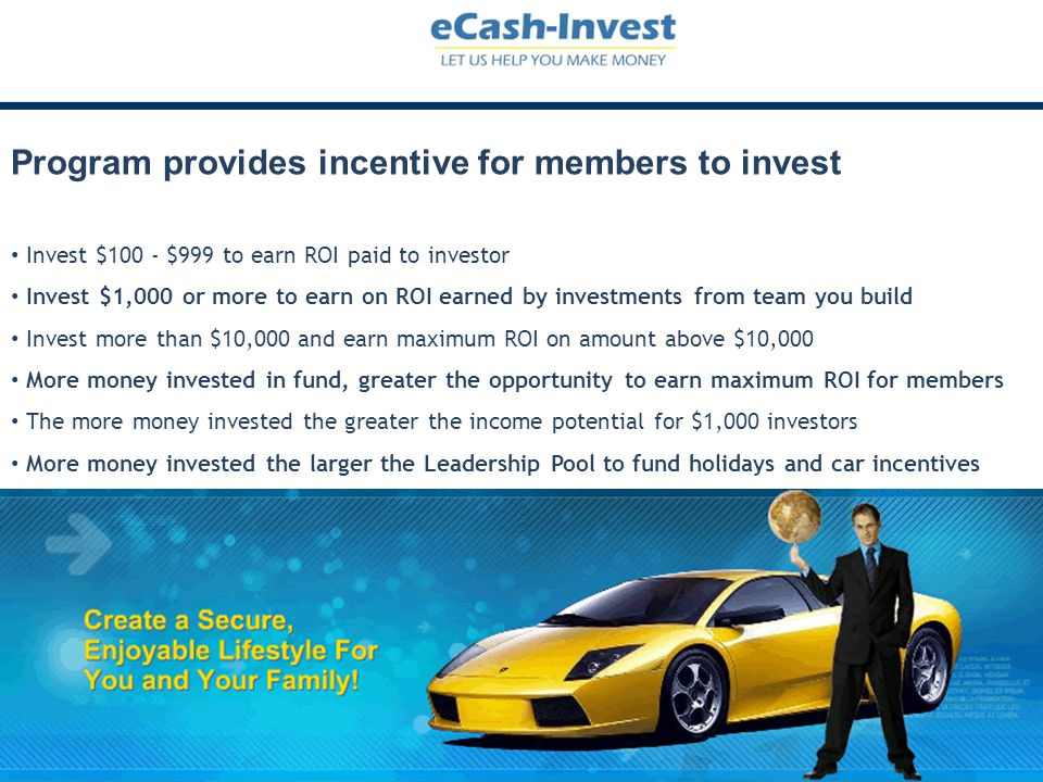 Program provides incentive for members to invest
