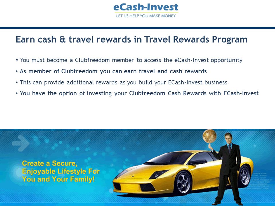 Earn cash & travel rewards in Travel Rewards Program