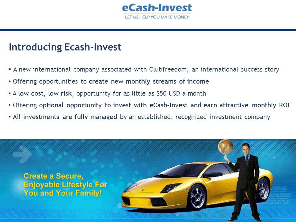 Introducing Ecash-Invest