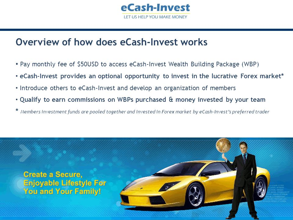 Overview of how does eCash-Invest works