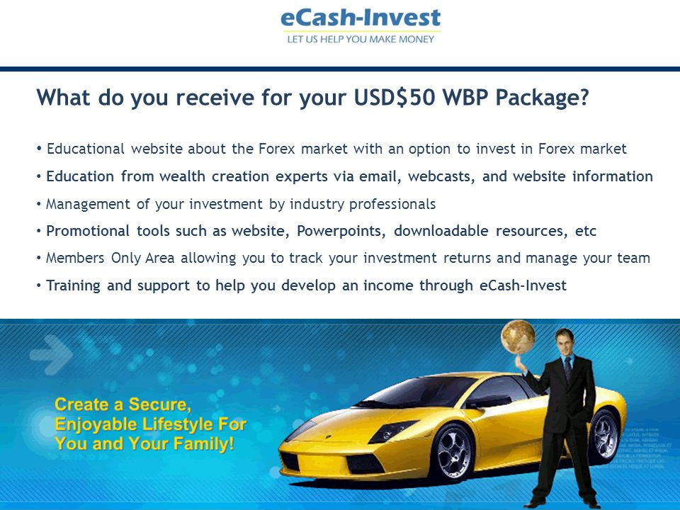 What do you receive for your USD$50 WBP Package