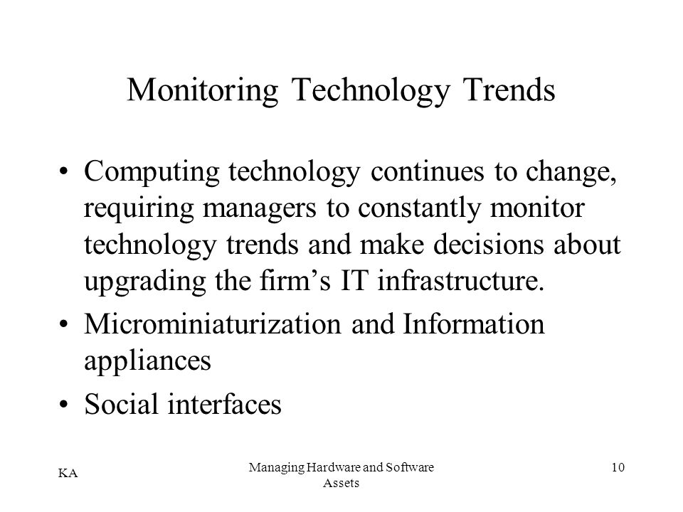 Monitoring Technology Trends