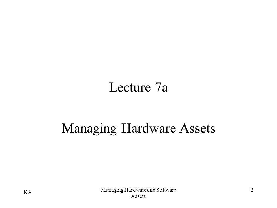 Managing Hardware Assets