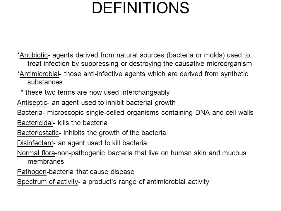 bactericidal antibiotics definition