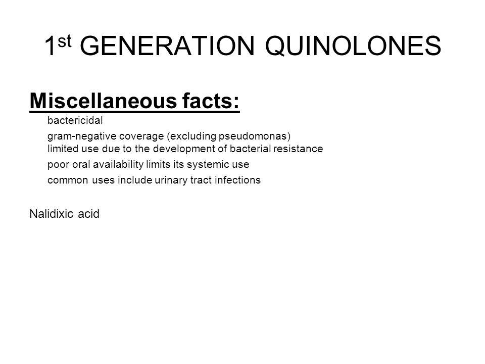 1st GENERATION QUINOLONES