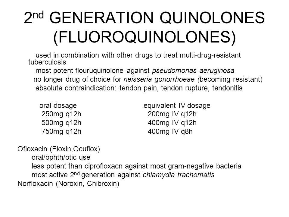 2nd GENERATION QUINOLONES (FLUOROQUINOLONES)