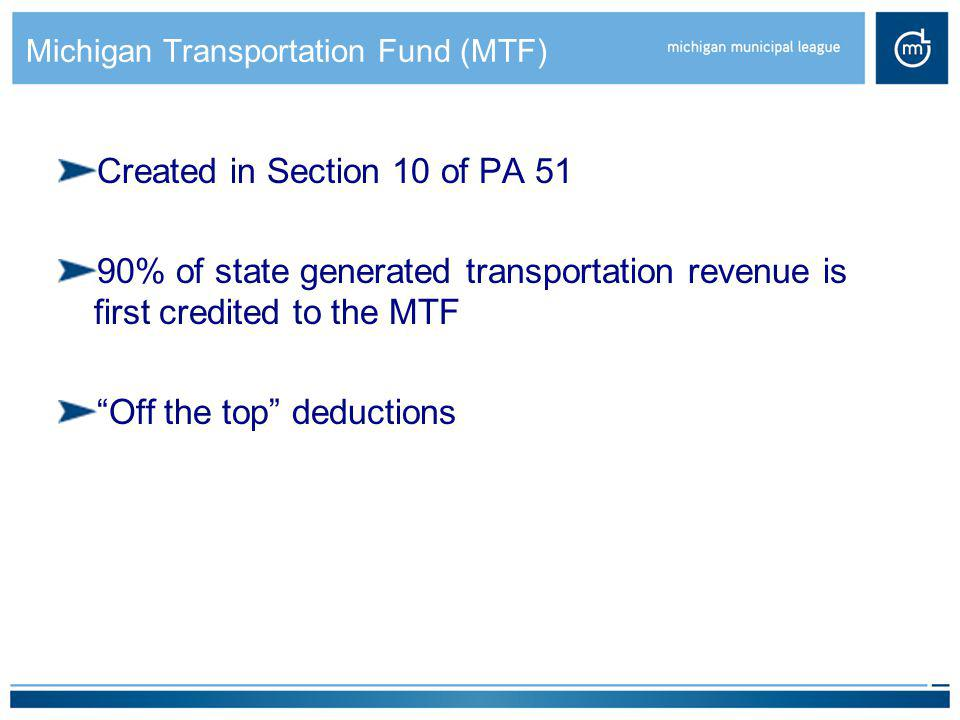 Michigan Transportation Fund (MTF)