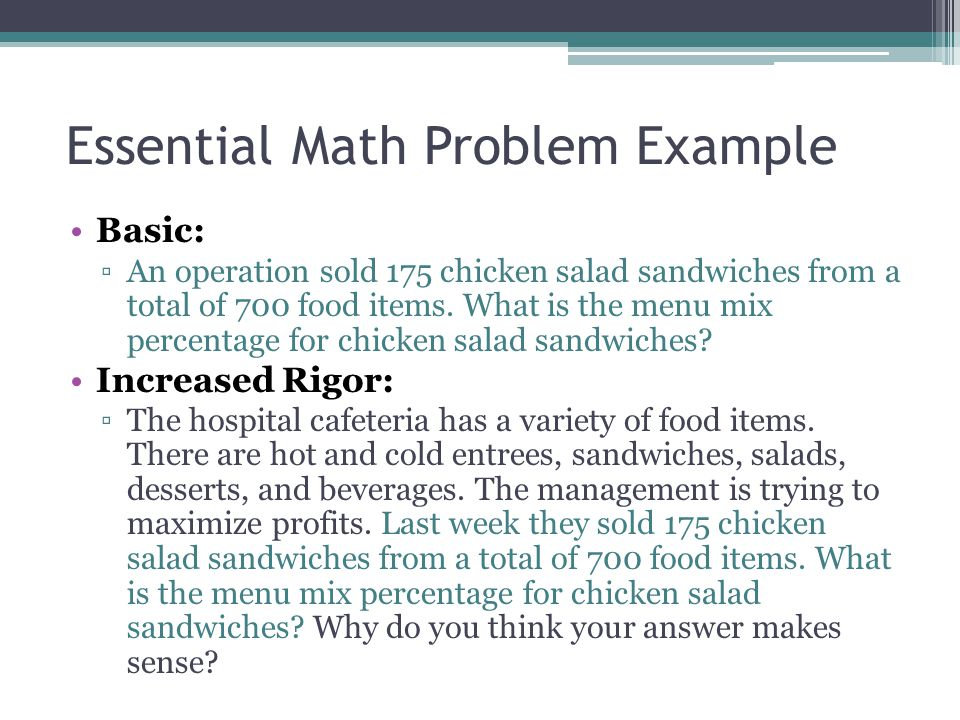 Essential Math Problem Example