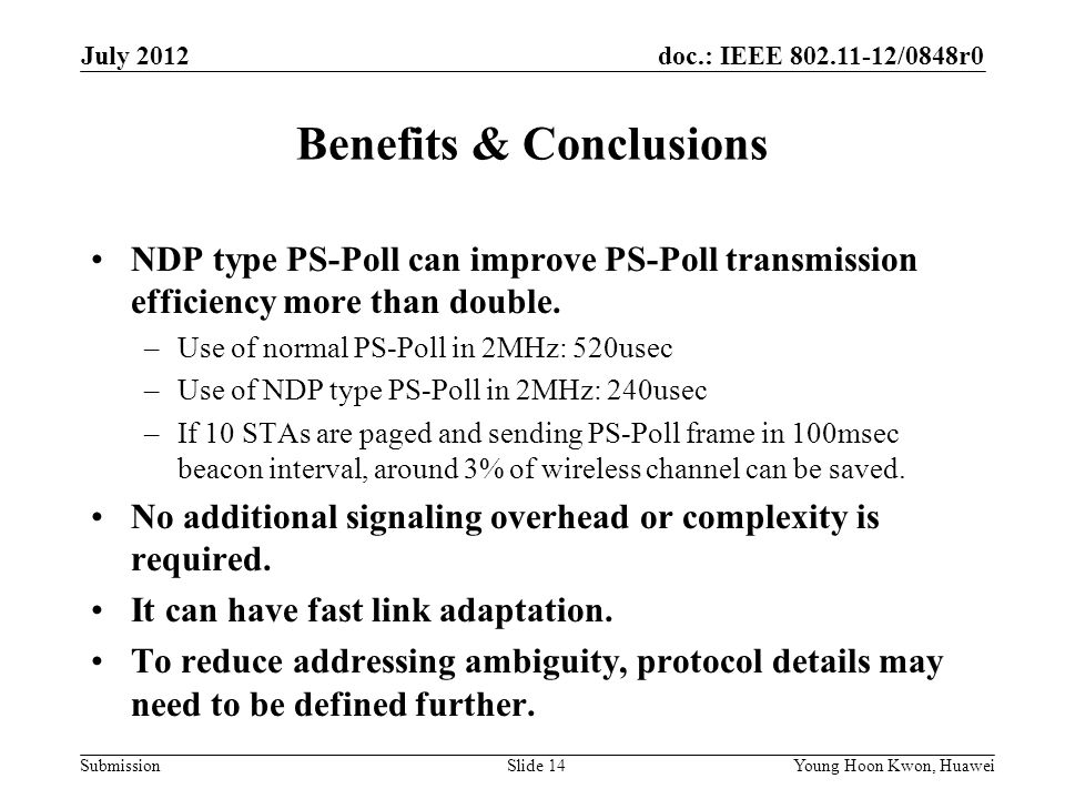 Benefits & Conclusions