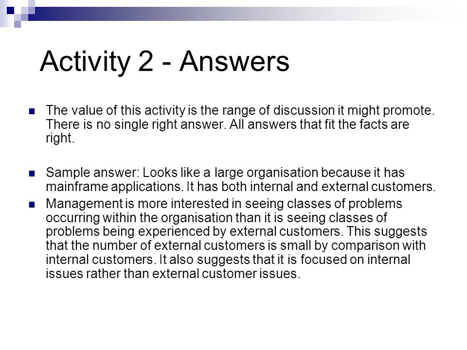 Activity 2 - Answers