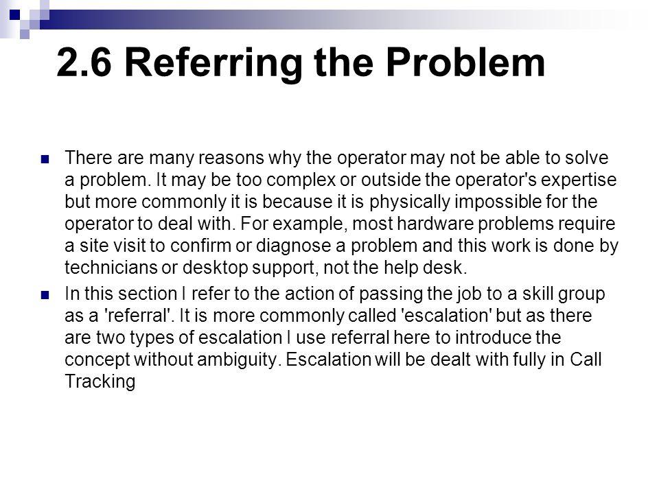 2.6 Referring the Problem