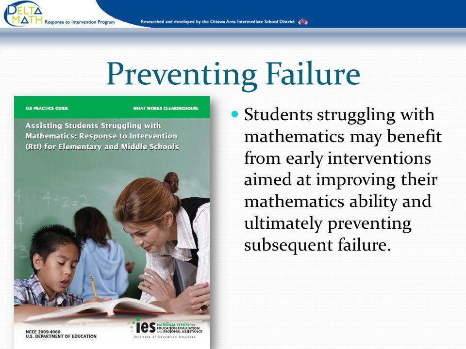 Preventing Failure
