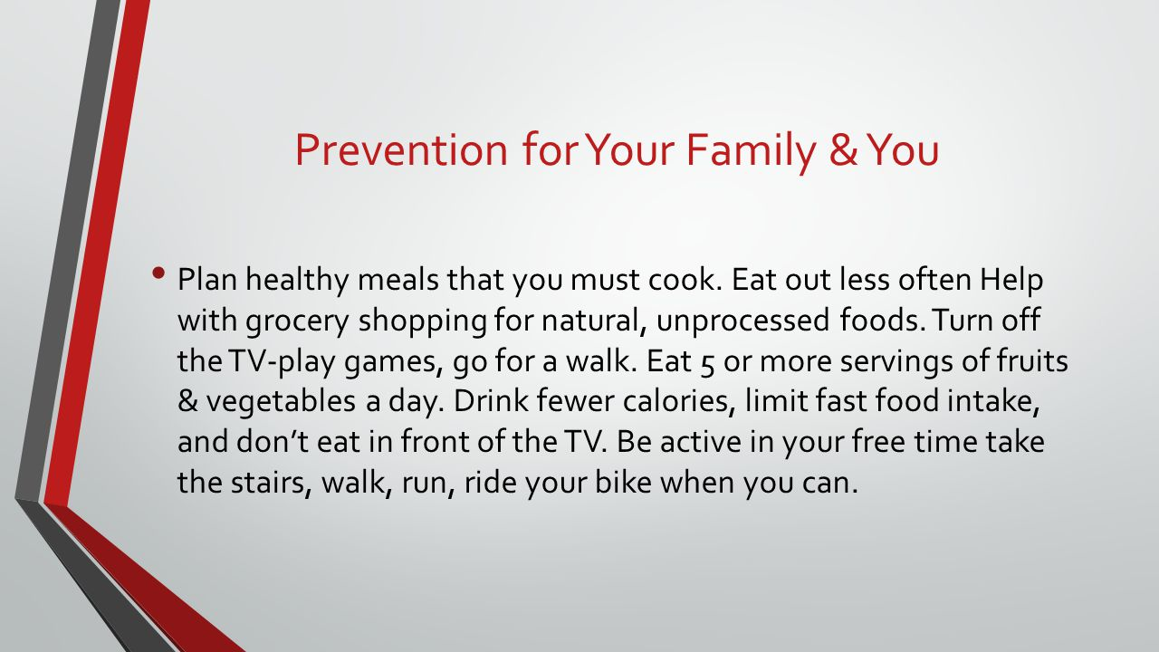 Prevention for Your Family & You