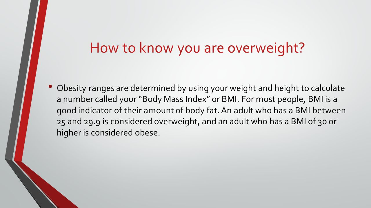 How to know you are overweight
