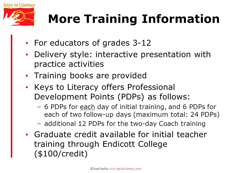 More Training Information