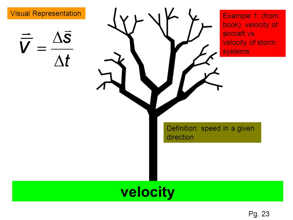 velocity Visual Representation