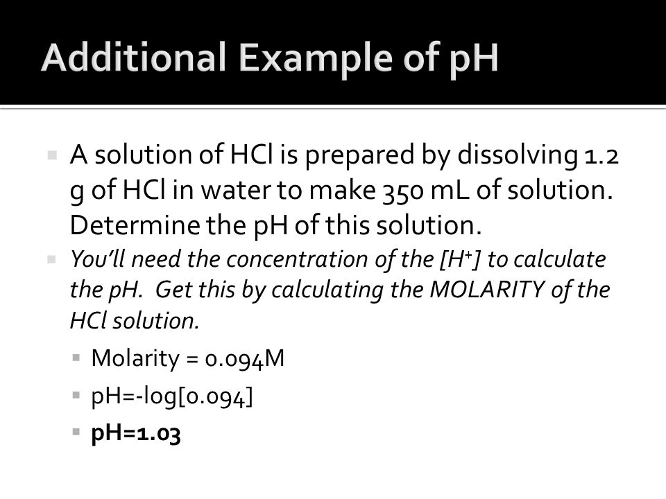 Additional Example of pH