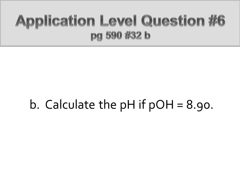 Application Level Question #6