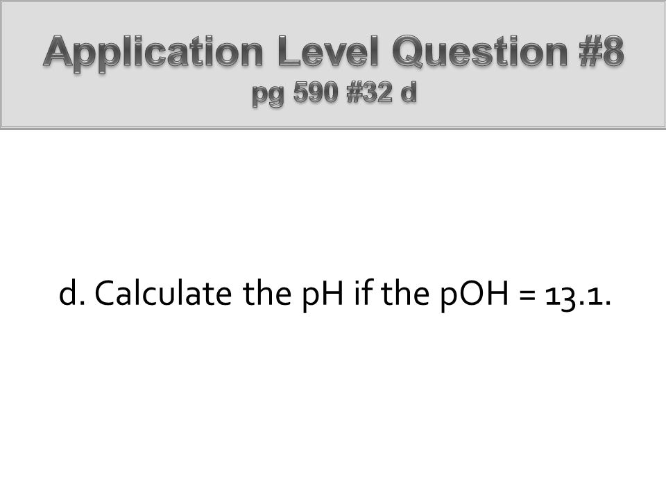 Application Level Question #8