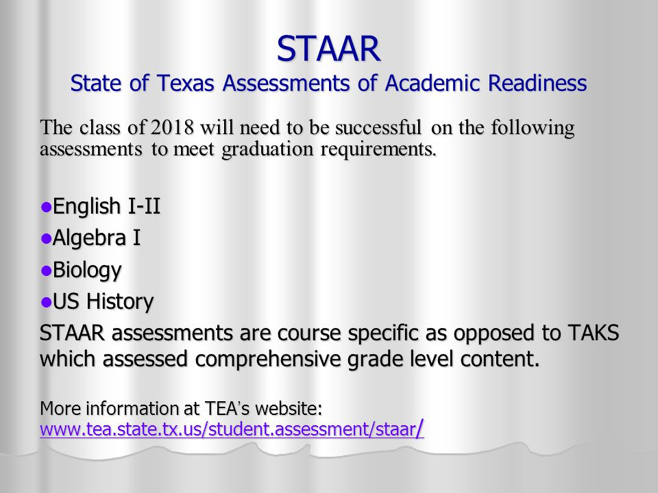 Texas Graduation Requirements for 2018