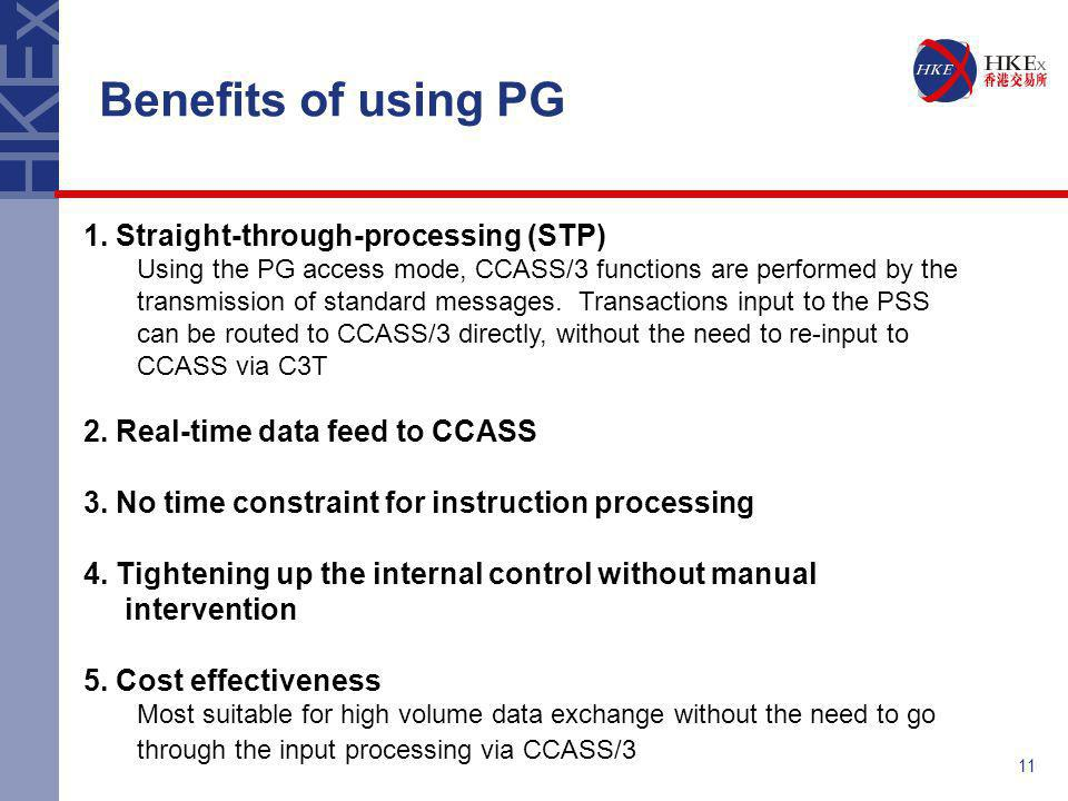 Benefits of using PG 1. Straight-through-processing (STP)