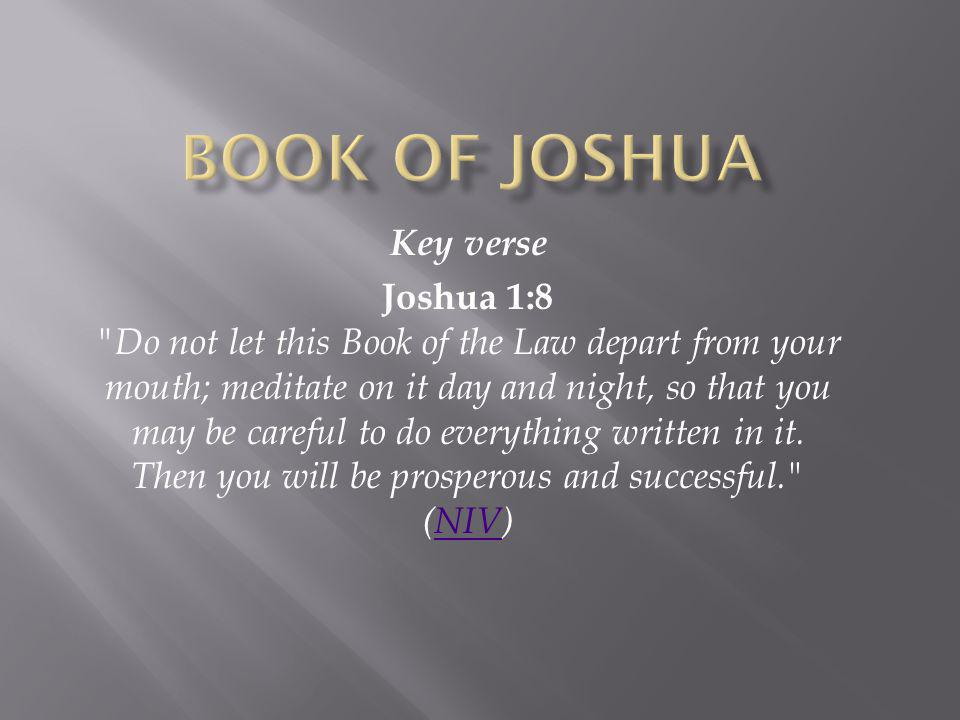 Book of Joshua Key verse