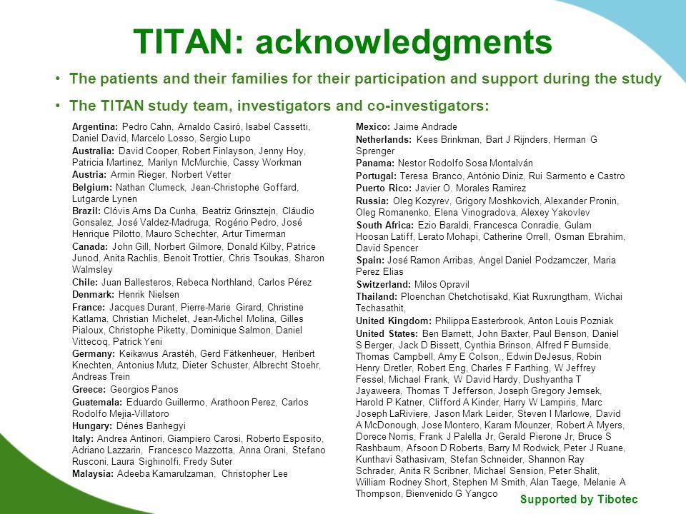 TITAN: acknowledgments
