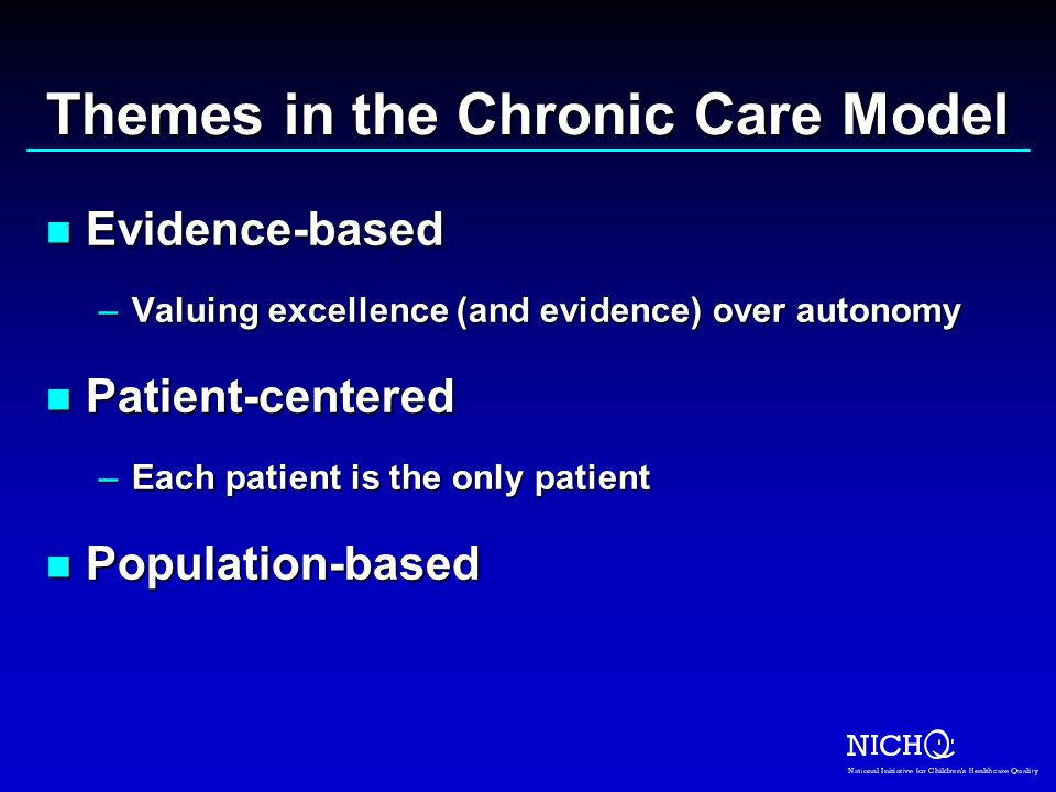 Themes in the Chronic Care Model