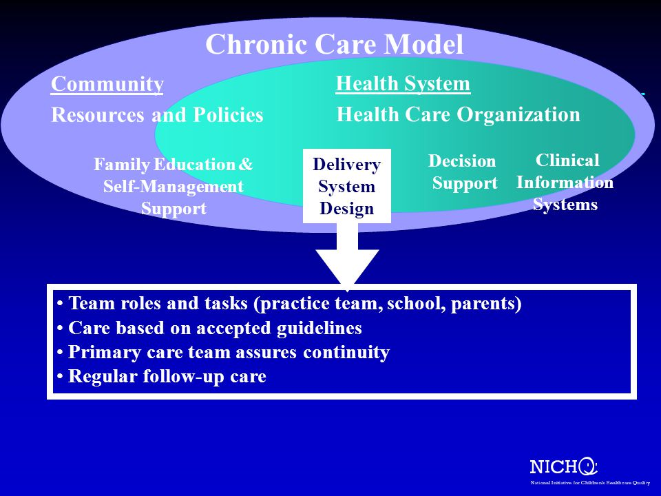 Chronic Care Model Community Resources and Policies Health System