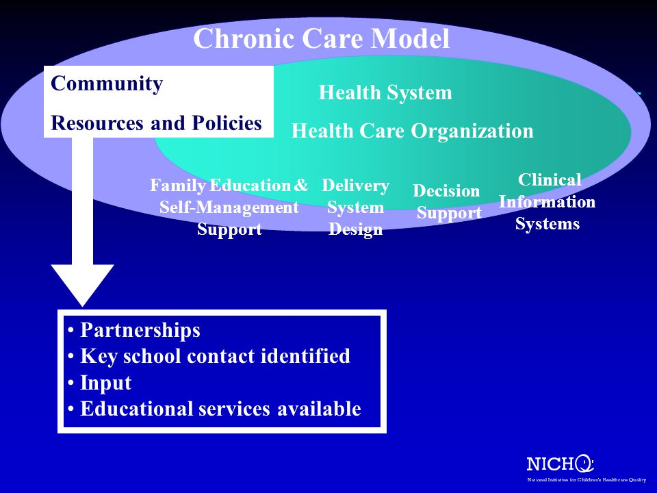 Chronic Care Model Community Health System Resources and Policies
