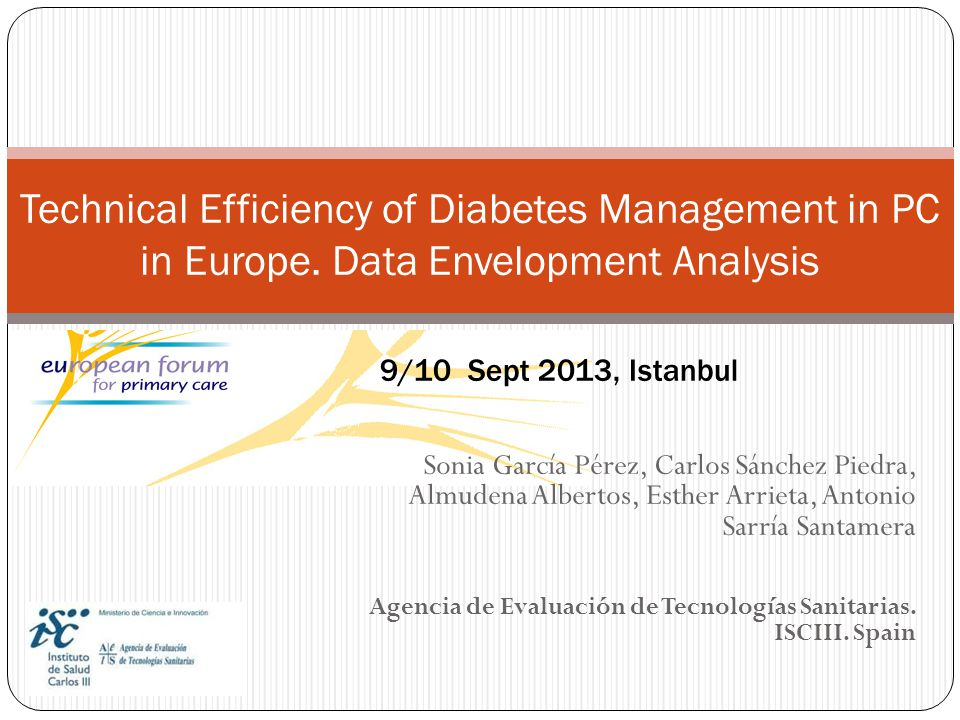 Technical Efficiency of Diabetes Management in PC in Europe