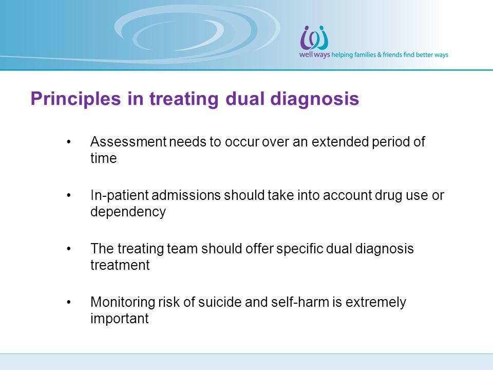 Principles in treating dual diagnosis